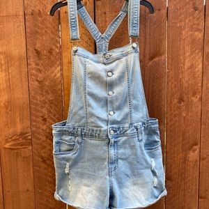 Celebrity Pink Overall Distressed Shorts